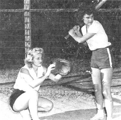 As a girl in the early 60's I played on a Softball team :: great memories.