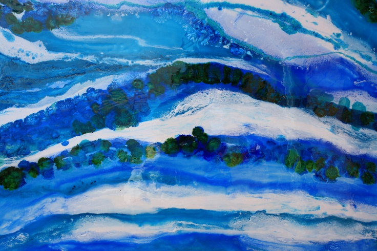 """""""Off the Surfcoast""""  Rolling Waves 1.2 x 1.4"""
