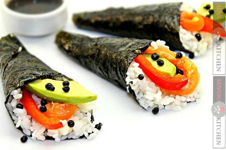 Reteta Sushi temaki - Reteta japoneza Adygio Kitchen #adygio #adygiokitchen #sushi #sushitemaki #somon
