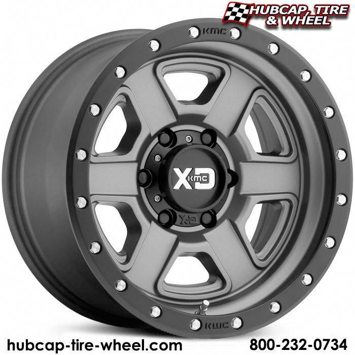 Kmc Xd Series Xd133 Fusion Satin Gray W Black Lip Off Road