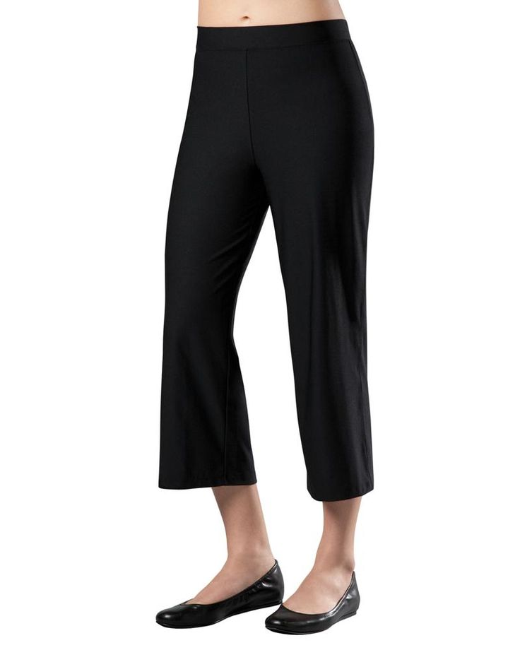 Style meets slimming with these adorable cropped pants complete with a built-in slimming liner. Wrinkle-resistant fabric makes this easy-to-wear essential a must-have for travel. New!... More Details