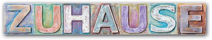 Farbenfroher Holzkreideoptik Schriftzug aus hochwertigem Kunststoff (8mm)  Artikeldetails:  Maße (B/T/H): 60/0,8/13 cm,  ...