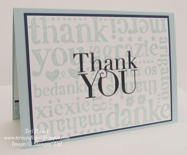 Stampin' Up! - A World Of Thanks .... Teri Pocock - http://teriscraftspot.blogspot.co.uk/2015/07/a-world-of-thanks.html