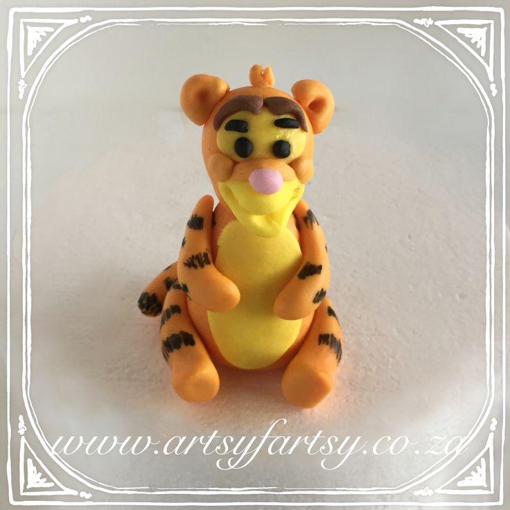 Tigger Sugar Figurine #tiggercaketopper