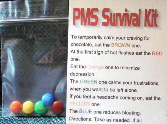 PMS SURVIVAL KIT Joke Gift M&M's Chocolate Fun by GrammasTreasure