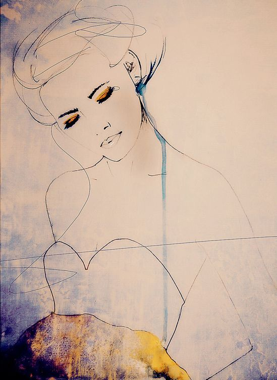 DESIGN ARTIST ILLUSTRATOR LEIGH VINER FASHION DRAWING WATERCOLOR INK