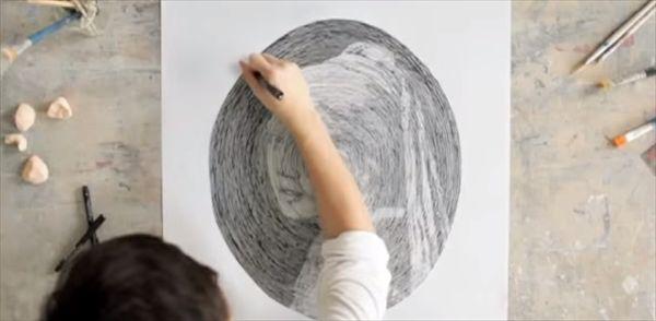 「渦巻き」だけで有名な絵画を再現する稀代の天才アーティスト - http://naniomo.com/archives/6211