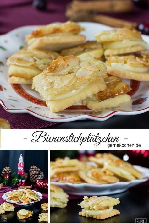 Rezept: Bienenstichplätzchen – Kleine Kuchen – gernekochen.de  – In der Weihnachts-Bäckerei