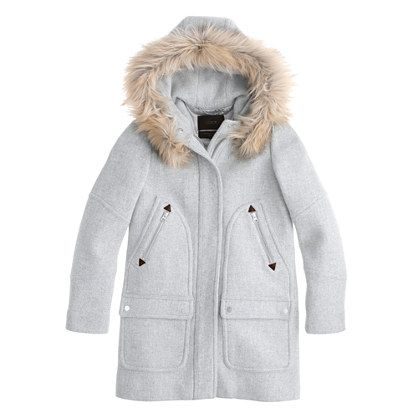 OH I have wanted a heather grey coat for years!  And it has a hood and fur trim..... What will my excuse be this year?