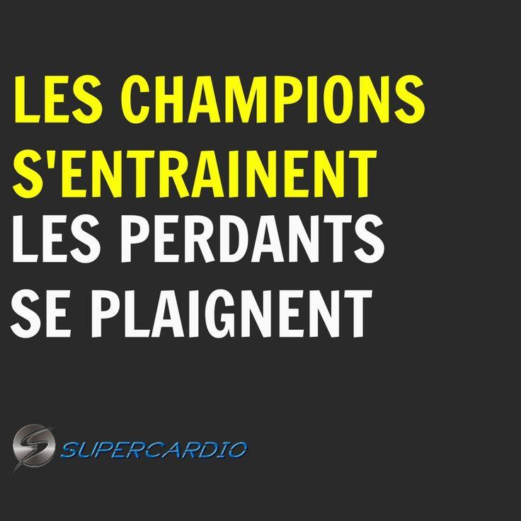 CHAMPIONS entrainement citation motivation supercardio