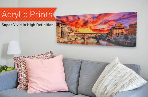 In order to create the very best acrylic print, we made sure that every detail is perfect. The edges are smoothly polished and perfectly clear. We print right to the edge of the acrylic for a sleek modern look. Then we drill a hole in each corner so that your print is ready-to-hang with our high end standoff installation kit.