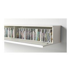 BESTÅ BURS Plank/wandkast - hoogglans wit - IKEA