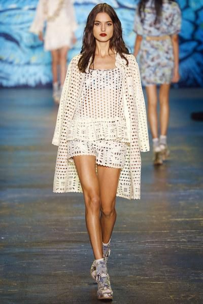 Perforated head-to-toe at Anna Sui Spring 2016
