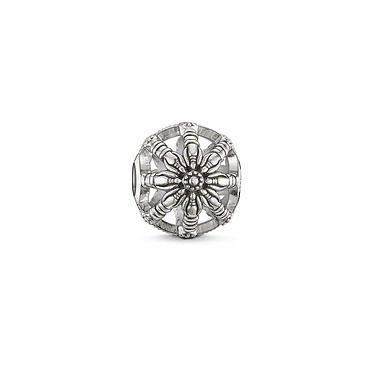 BEAD THOMAS SABO KARMA BEAD KARMA BEAD BLACKENED STERLING SILVER 1CM - Jons Family Jewellers