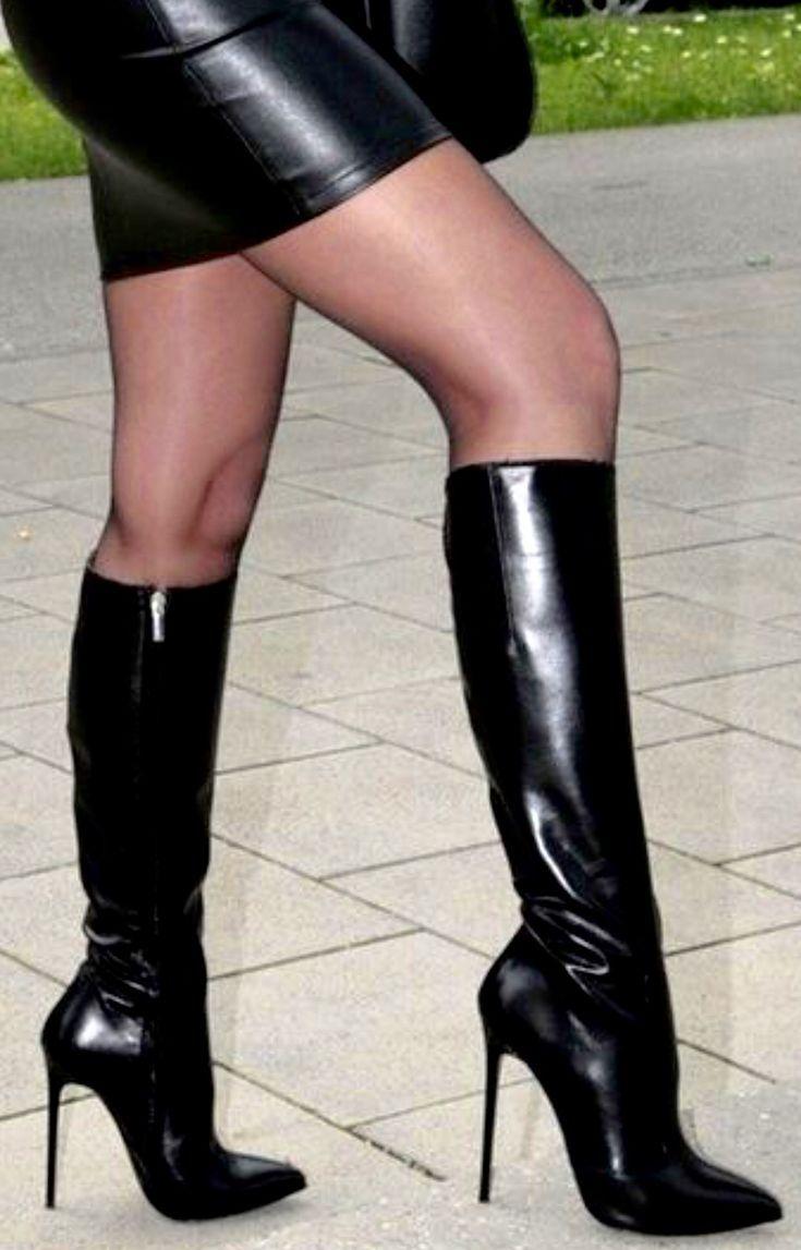 stil i 2020 | Boots, Högklackade stövlar, Stövel