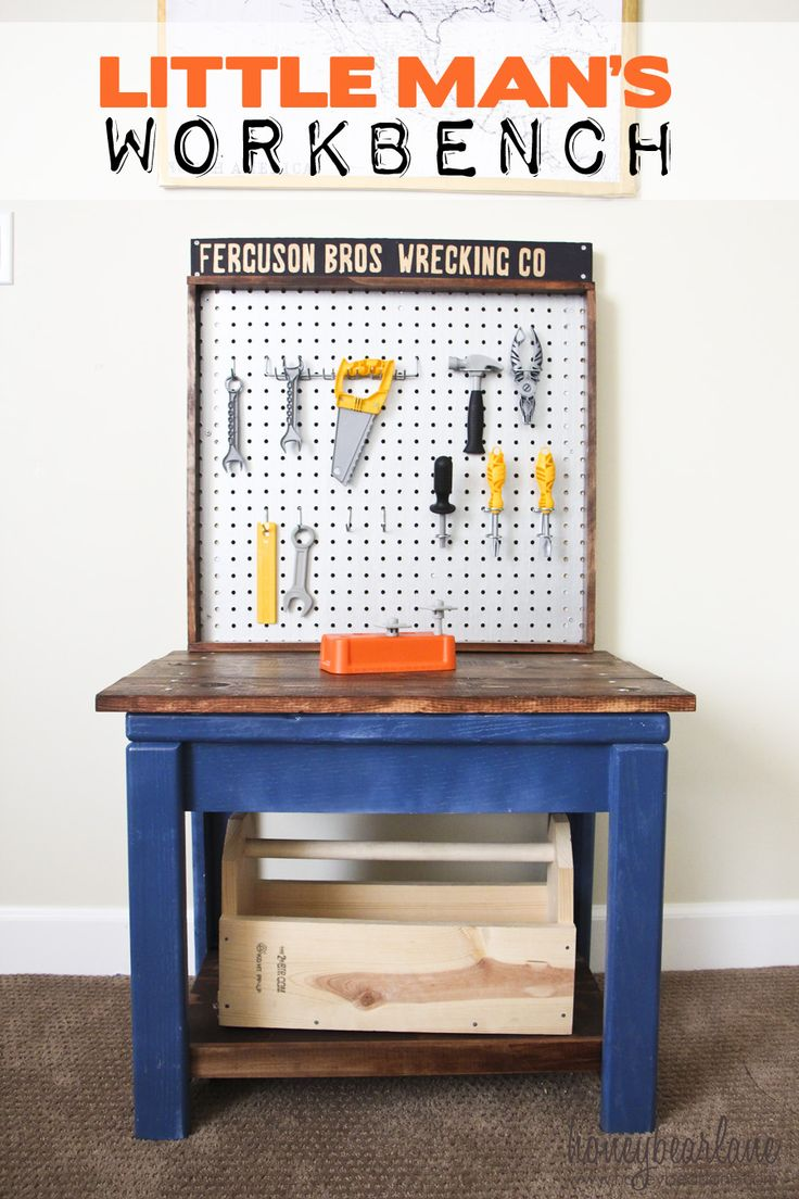 Kids Workbench from Old Table--I love this!  www.honeybearlane.com