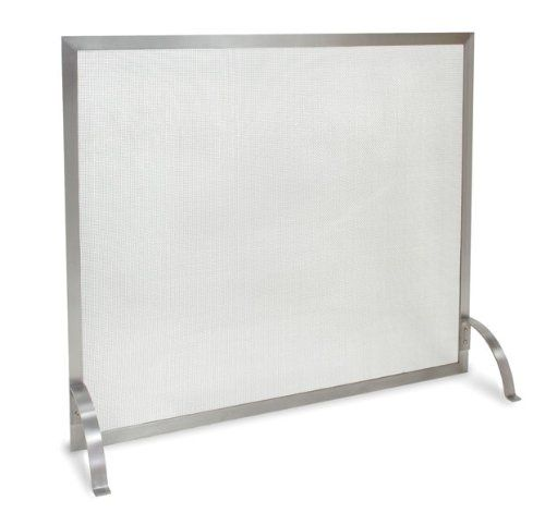 Amazon.com - Pilgrim 18257 Home and Hearth Newport Single Fireplace Panel Screen, Stainless Steel