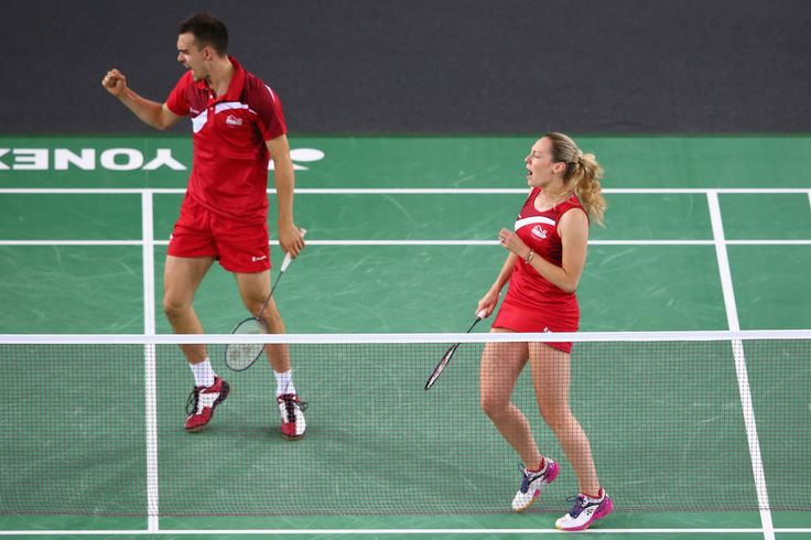 Chris Adcock and Gabrielle Adcock of England. 20th Commonwealth Games: Badminton