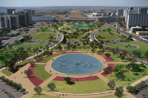 Resultado de imagem para paisagismo para o Eixo Monumental de Brasília