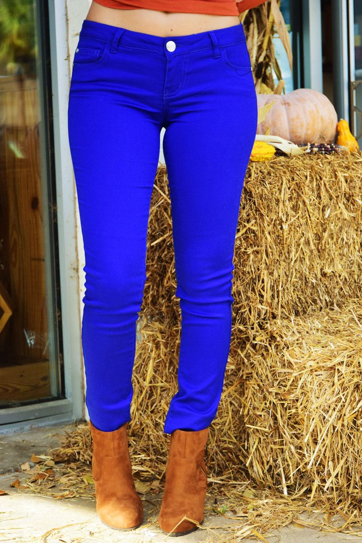 Don't Look Back Jeans: Royal Blue #shophopes