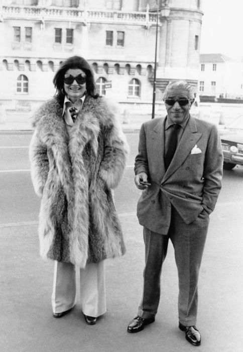Aristotle Onassis, shipping tycoon, and Jackie Kennedy-Onassis.