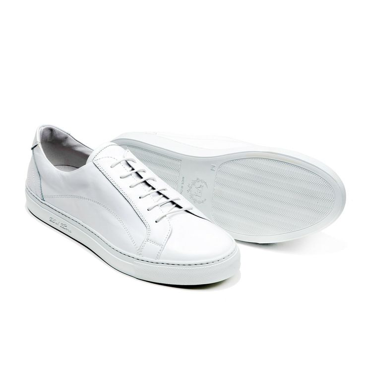 DelToro Shoes - Men's White Nappa Leather Torino Sneaker - $325.00
