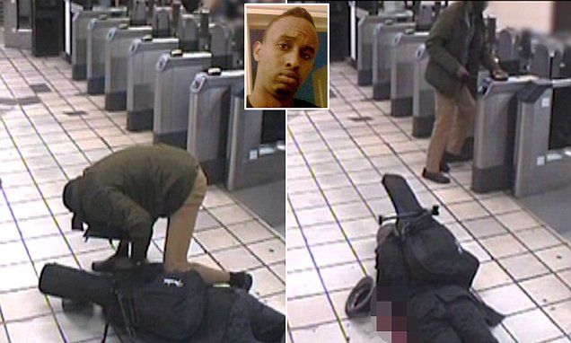 Muhiddin Mire tapped out his Oyster card at Leytonstone station after attack | Daily Mail Online