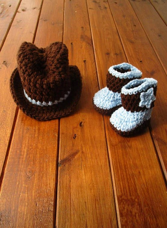 Excited to share the latest addition to my #etsy shop: Newborn Cowboy Outfit Cowboy Hat and Boots Set Knit Cowboy Hat Crochet Cowboy Hat and Boots Baby Cowboy Outfit Photo Prop Cowboy Photo Prop http://etsy.me/2ofJnmZ #accessories #brown #blue #babycowboyboots #crochet