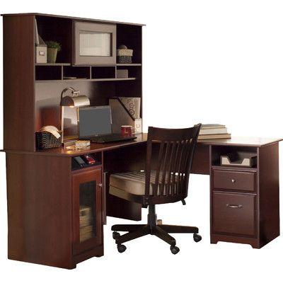 Red Barrel Studio Capital Computer Desk with Hutch Finish: