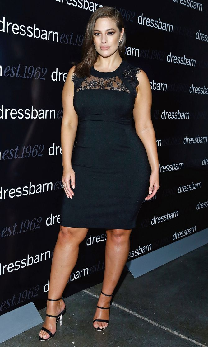 Ashley Graham in a lace LBD