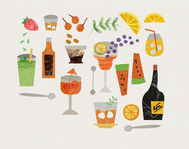 Food Illustration I did this week for a menu!! http://monica-andino.tumblr.com/