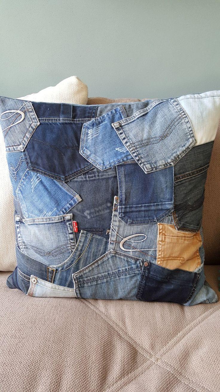 Kussen van zakken Jeans