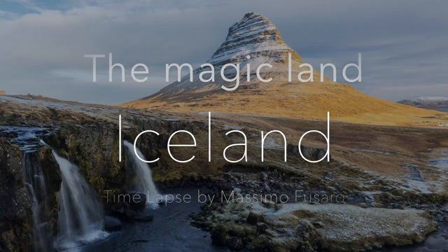 "Video TimeLapse ""The magic land Iceland"". Este Time lapse toca um cantico do Reino .<3"
