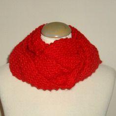 Echarpe snood, très douce, tricotée main, pour femme