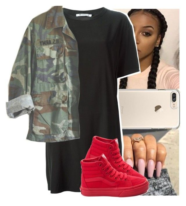 """I ain't tryna fall in luv..❤"" by theyknowtyy ❤ liked on Polyvore featuring T By Alexander Wang and Vans"