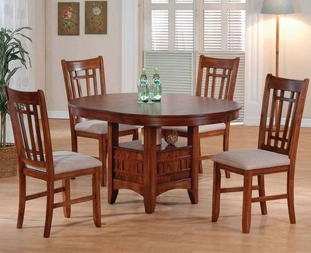 this dining table set offers sleek designs that will create a stunning focal point in your dining room