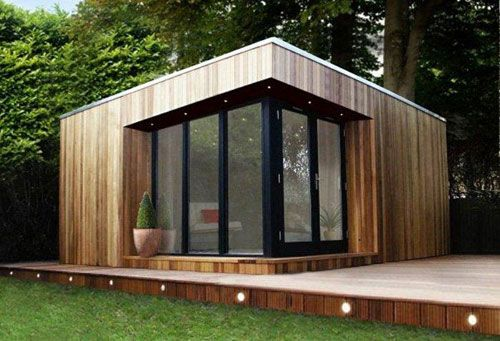 8 best design tuinhuizen images on pinterest garden for Cedar garden office