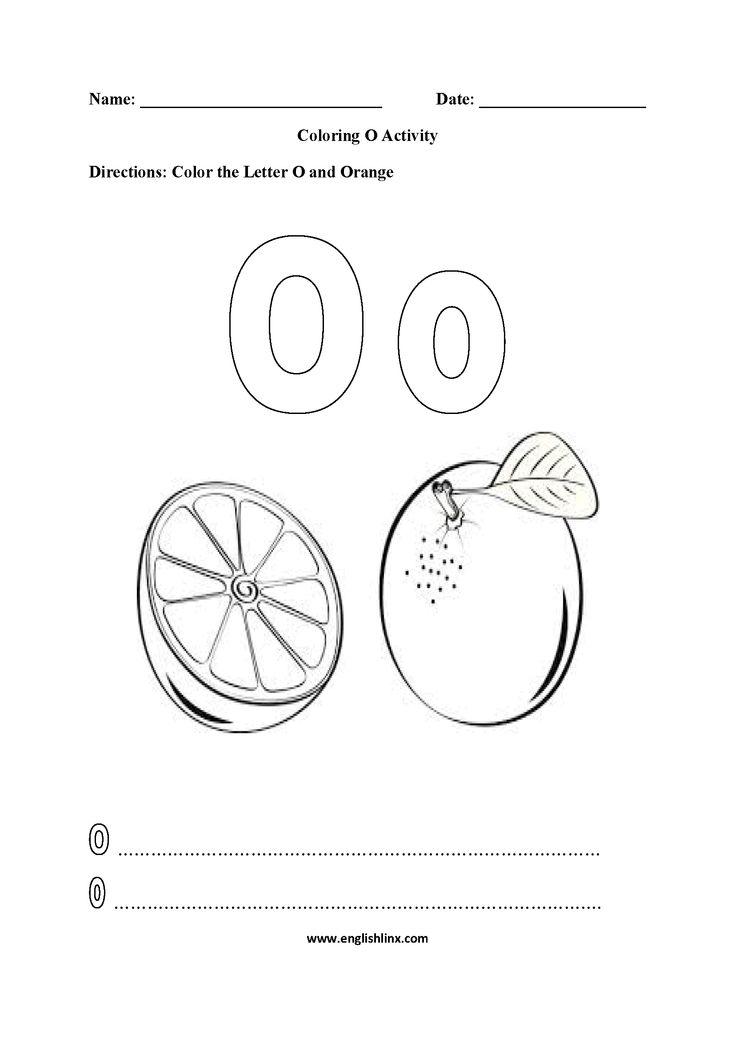 Letter O Worksheets | Letter o worksheets, Color ...