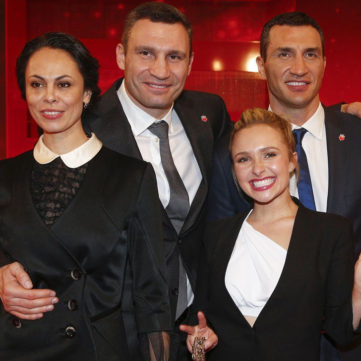 Hayden Panettiere Is Adorably Dwarfed by Fiancé Wladimir Klitschko's Super Tall Family