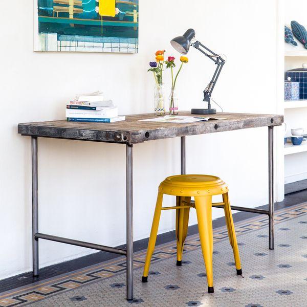 Eettafels - Industrieel bureau steenschot - Een uniek product van purewooddesign op DaWanda