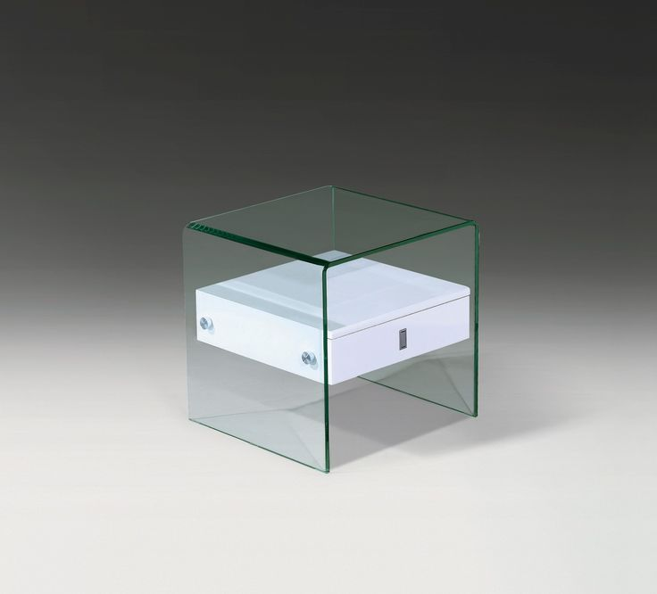 Bent Glass End Table