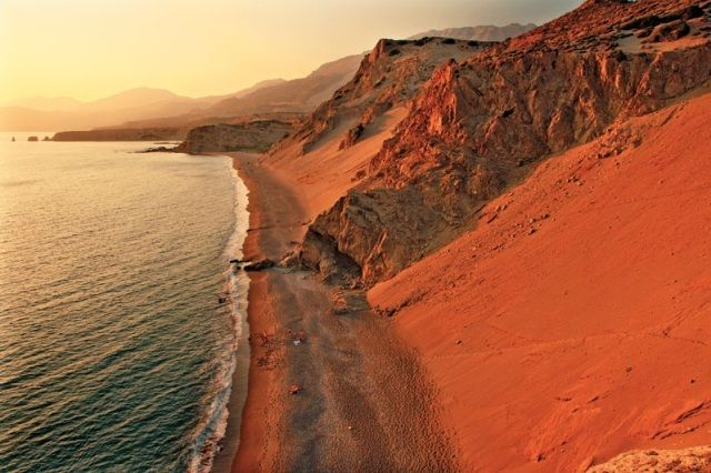 The incredible beach of Agios Pavlos with sand dunes in Rethymno!