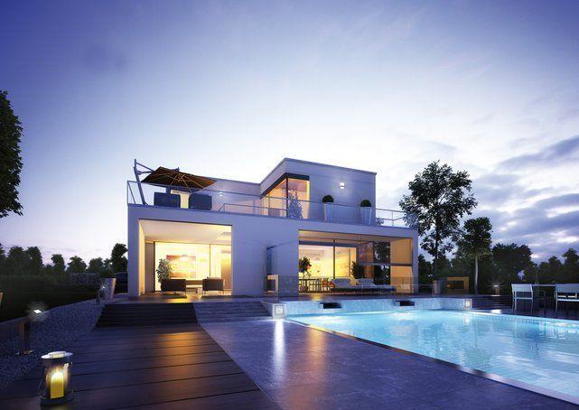 Moderne häuser mit viel glas  Die besten 25+ Bauhausstil haus Ideen nur auf Pinterest | Häuser ...