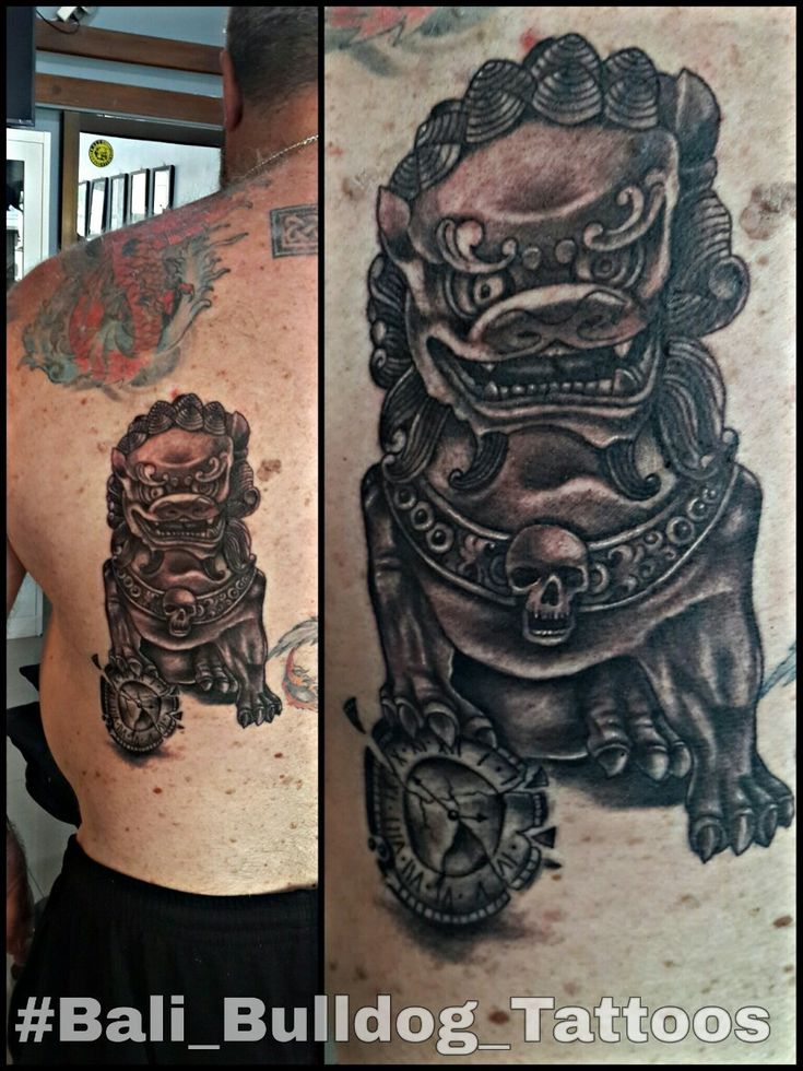 #Foo_Dog_Tattoo #Bali_Bulldog_Tattoos #Bali_Tattoo #Bali_Bulldog_Tattoo