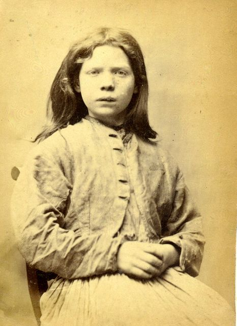 Mary Catherine Docherty was sentenced to 7 days hard labour after being convicted of stealing iron along with her accomplices: Mary Hinnigan, Ellen Woodman and Rosanna Watson.  She was 14.  These photographs are of convicted criminals in Newcastle between 1871 - 1873.