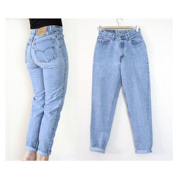Vintage 80s 90s High Waist Levi's 512 Tapered Leg Jeans Women's Ston ❤ liked on Polyvore featuring jeans, high-waisted jeans, high rise jeans, vintage blue jeans, high rise boyfriend jeans and denim jeans