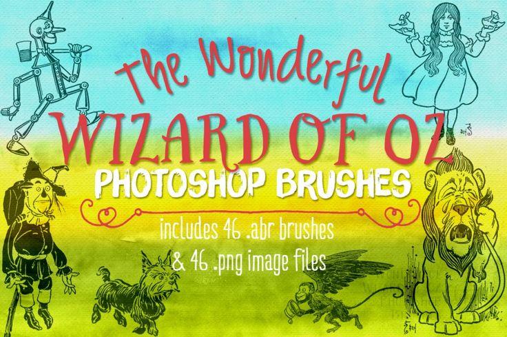 Wonderful Wizard of Oz Photoshop Brushes