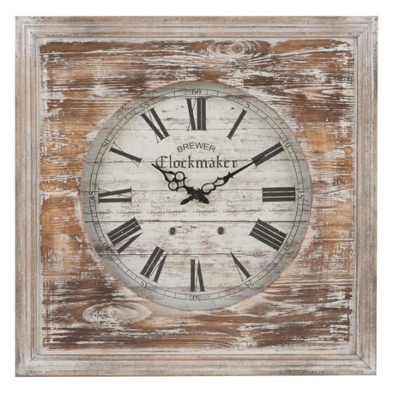 Legacy Wall Clock Grey Wash