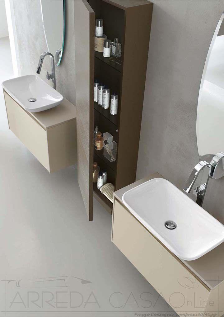 Arredo Bagno design doppio lavabo Esc17 | Prezzo ARREDACASAOnLine