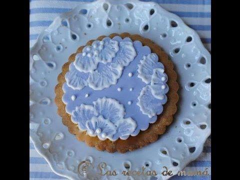 ▶ Como decorar galletas con la técnica Brush Embroidery - YouTube